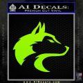 Wolf Head Decal Sticker Smooth Lime Green Vinyl 120x120