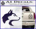 Wolf Head Decal Sticker Smooth PurpleEmblem Logo 120x97