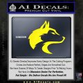 Wolf Head Decal Sticker Smooth Yellow Laptop 120x120