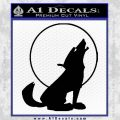 Wolf Howling At Moon Decal Sticker Black Vinyl 120x120