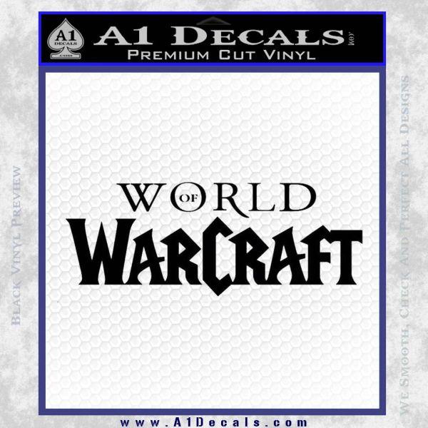 World Of Warcraft Decal Sticker Wow Logo 187 A1 Decals