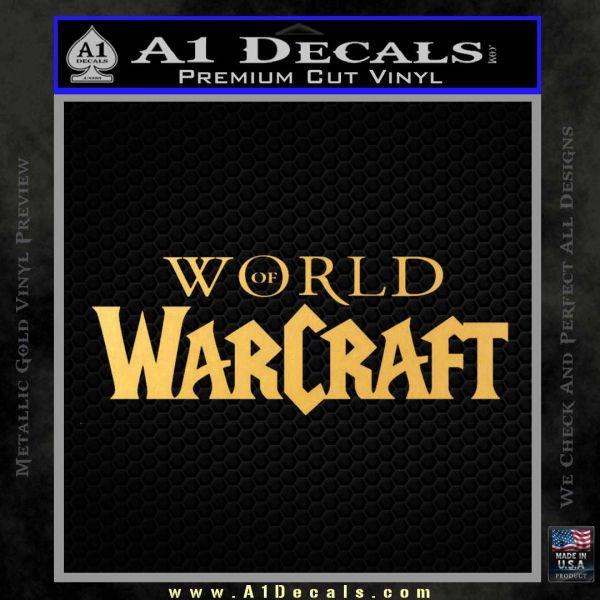 world of warcraft decal sticker wow logo a1 decals. Black Bedroom Furniture Sets. Home Design Ideas