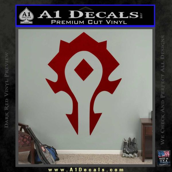 world of warcraft horde decal sticker a1 decals. Black Bedroom Furniture Sets. Home Design Ideas