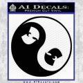 Wu Tang Clan Yin Yang Decal Sticker Black Vinyl 120x120