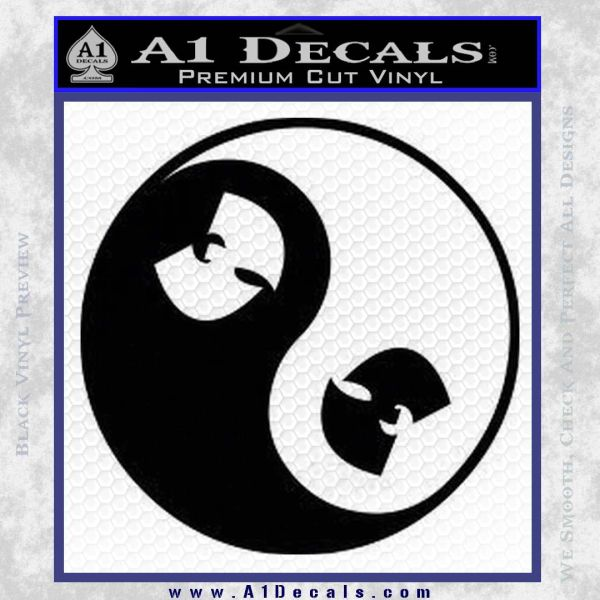 Wu Tang Clan Yin Yang Decal Sticker 187 A1 Decals