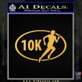 10K Marathon Decal Sticker Running Gold Vinyl 120x120