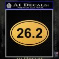 26.2 Marathon Run Decal Sticker Euro Gold Vinyl 120x120