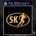 5K Marathon Decal Sticker Running Gold Vinyl 120x120