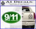 9 11 Never Forgive Decal Sticker Oval Green Vinyl Logo 120x97