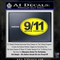 9 11 Never Forgive Decal Sticker Oval Yellow Laptop 120x120