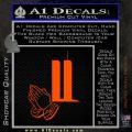 9 11 Prayer Hands Decal Sticker Orange Emblem 120x120