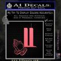 9 11 Prayer Hands Decal Sticker Pink Emblem 120x120