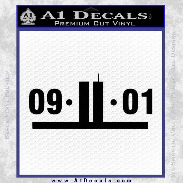 9 11 Remember Decal Sticker Black Vinyl