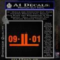9 11 Remember Decal Sticker Orange Emblem 120x120