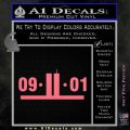 9 11 Remember Decal Sticker Pink Emblem 120x120