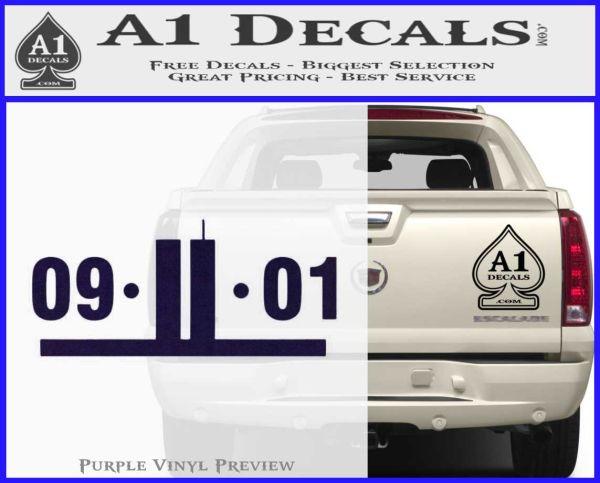 9 11 remember decal sticker purpleemblem logo 120x97