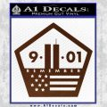 911 Remember Flag Pentagon Decal Sticker BROWN Vinyl 120x120