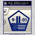 911 Remember Flag Pentagon Decal Sticker Blue Vinyl 120x120