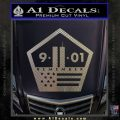 911 Remember Flag Pentagon Decal Sticker Carbon FIber Chrome Vinyl 120x120