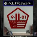 911 Remember Flag Pentagon Decal Sticker DRD Vinyl 120x120