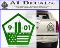 911 Remember Flag Pentagon Decal Sticker Green Vinyl Logo 120x97