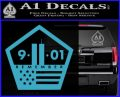 911 Remember Flag Pentagon Decal Sticker Light Blue Vinyl 120x97