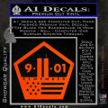 911 Remember Flag Pentagon Decal Sticker Orange Emblem 120x120