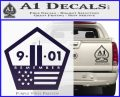 911 Remember Flag Pentagon Decal Sticker PurpleEmblem Logo 120x97