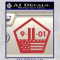 911 Remember Flag Pentagon Decal Sticker Red 120x120