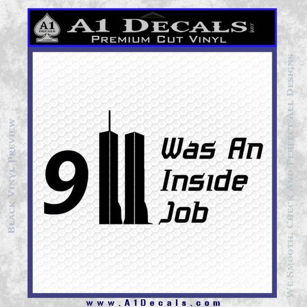 911 Was An Inside Job 9 11 Decal Sticker 911 Black Vinyl
