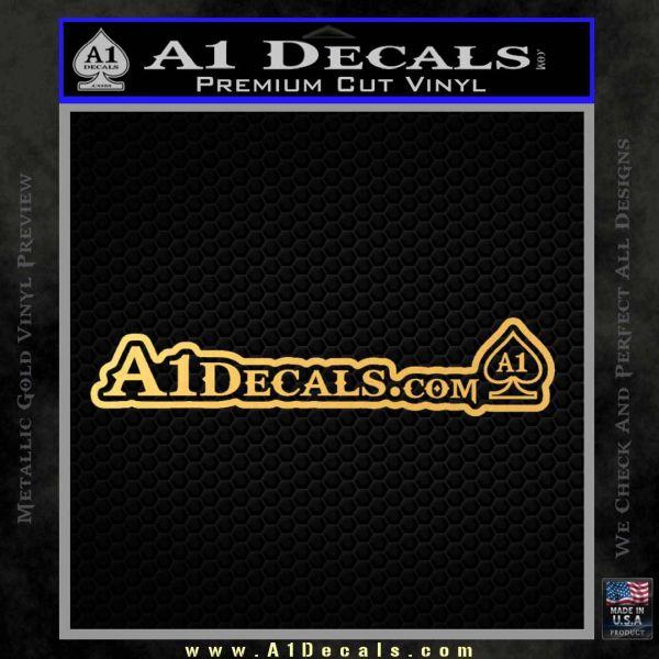 A1DECALS LOGO WIDE Decal Sticker Gold Vinyl