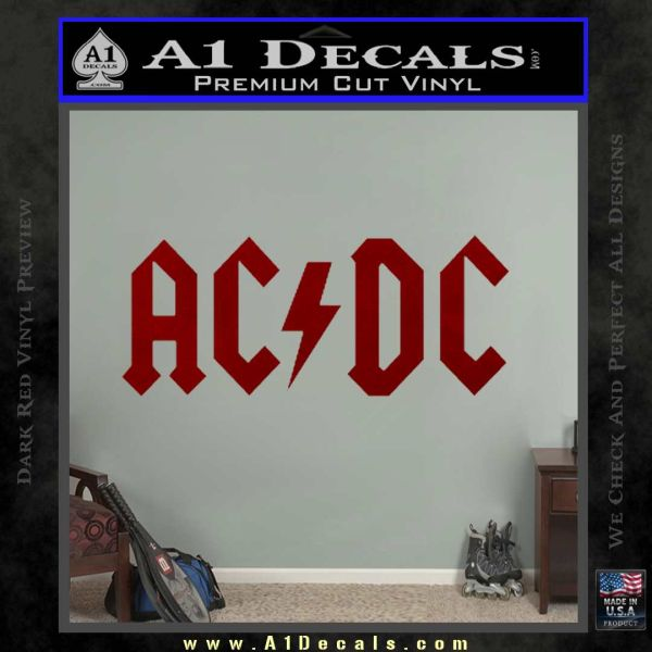 ACDC Rock Decal DRD Vinyl