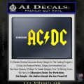 ACDC Rock Decal Yellow Laptop 120x120