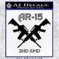 AR 15s Gun Rights AR15 Decal Sticker Black Vinyl 120x120