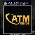 ATM Inside Decal Sticker Gold Vinyl 120x120