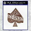 Ace Of Spades Intricate Decal Sticker BROWN Vinyl 120x120