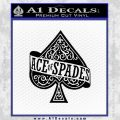 Ace Of Spades Intricate Decal Sticker Black Vinyl 120x120