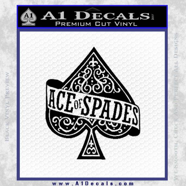 Ace Of Spades Intricate Decal Sticker Black Vinyl