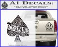 Ace Of Spades Intricate Decal Sticker Carbon FIber Black Vinyl 120x97