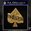 Ace Of Spades Intricate Decal Sticker Gold Vinyl 120x120