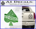 Ace Of Spades Intricate Decal Sticker Green Vinyl Logo 120x97