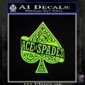 Ace Of Spades Intricate Decal Sticker Lime Green Vinyl 120x120