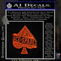 Ace Of Spades Intricate Decal Sticker Orange Emblem 120x120