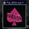 Ace Of Spades Intricate Decal Sticker Pink Hot Vinyl 120x120