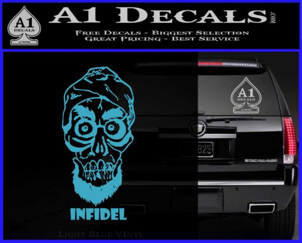 achmed infidel decal sticker jeff dunham a1 decals. Black Bedroom Furniture Sets. Home Design Ideas