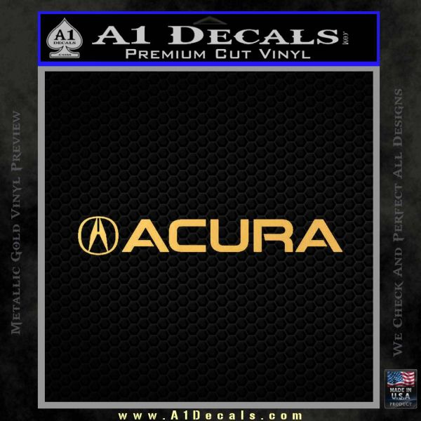 Acura Decal Sticker Wide A Decals - Acura decals