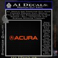 Acura Decal Sticker Wide Orange Emblem 120x120