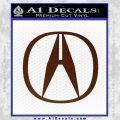 Acura Emblem Logo Decal Sticker BROWN Vinyl 120x120