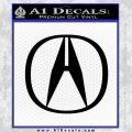 Acura Emblem Logo Decal Sticker Black Vinyl 120x120