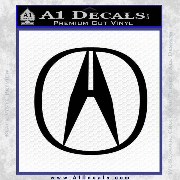 Acura Emblem Logo Decal Sticker A Decals - Acura emblem black